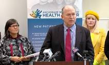 Governor Walker and Alaska Department of Health & Social Services Commissioner Val Davidson at press conference Feb. 6, 2015